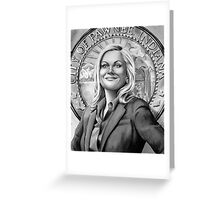leslie knope Greeting Card
