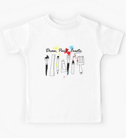Draw Paint Create   Kids Tee