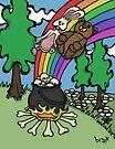 Teddy Bear And Bunny - End Of The Rainbow by Brett Gilbert