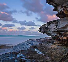 Tamarama Cliff sunset by bazcelt