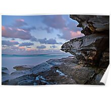 Tamarama Cliff sunset Poster