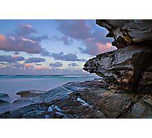Tamarama Cliff sunset Photographic Print