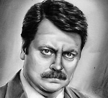 ron swanson by dollface87