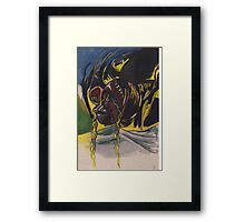 She flies through the night Framed Print
