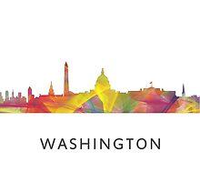 Washington, DC Skyline WB1 by Marlene Watson