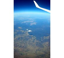 Airplane window Photographic Print
