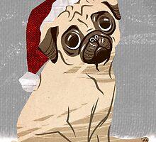 Christmas Pug by nos-da