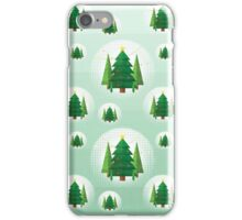 Abstract Geometric Christmas Trees iPhone Case/Skin