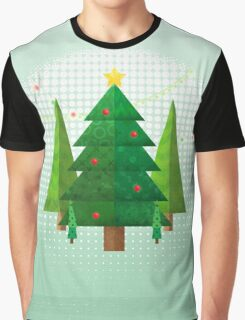 Abstract Geometric Christmas Trees Graphic T-Shirt