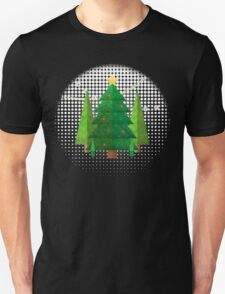 Abstract Geometric Christmas Trees Unisex T-Shirt