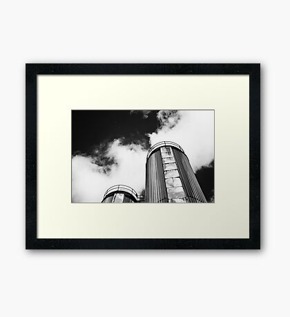 Dublin in Mono: Two Silver Towers Framed Print