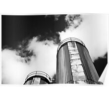 Dublin in Mono: Two Silver Towers Poster