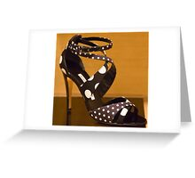 Polka Dot Heels Greeting Card