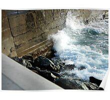 waves hitting land Poster