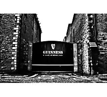 Dublin in Mono: Guinness - St. James's Gate Brewery  Photographic Print