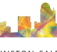 Winston-Salem North Carolina Skyline WB1 Sticker