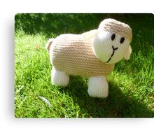 Hand Knitted toy Sheep Canvas Print