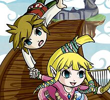 Skyward Sword in the style of The Wind Waker by Ranefea
