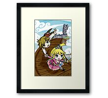 Skyward Sword in the style of The Wind Waker Framed Print