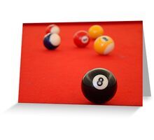 Lucky 8 ball Greeting Card