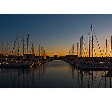 Racine harbour Photographic Print