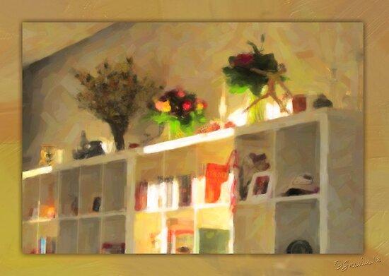 Birthday-bouquet Bookshelf by Karen  Securius