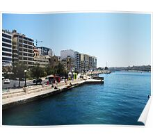 Sliema seafront Poster