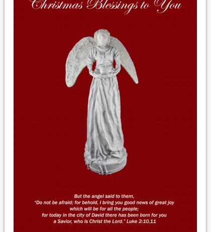 Christmas Card Angel Luke 2:10,11 Sticker