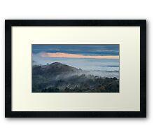 Rising through the Mist, Malvern Hills, Worcestershire Framed Print