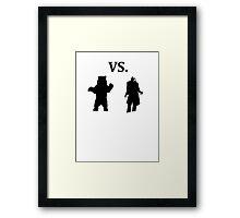 black bear vs demon Framed Print