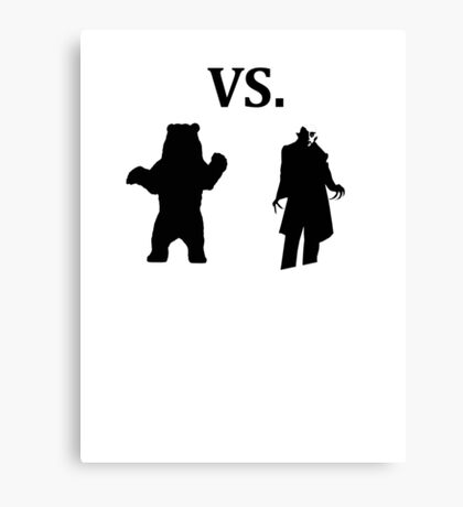 black bear vs demon Canvas Print