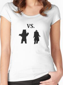 black bear vs demon Women's Fitted Scoop T-Shirt
