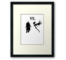 demon vs magic  Framed Print