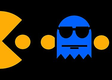 Pacman - The Ghosts - Inky by Rastaman