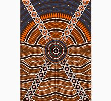 An illustration based on aboriginal style of dot painting depicting secret Unisex T-Shirt
