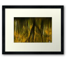 Autumn Water Reflection Abstract I Framed Print
