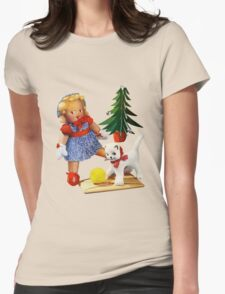Knitted out for Christmas - Vintage Retro Tee Womens Fitted T-Shirt