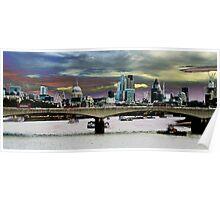 London landscape from Waterloo bridge Poster