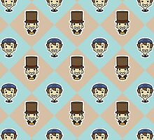 Layton + Luke iPhone Case by jastrul