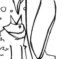 Emperor penguin, coloring book page Sticker
