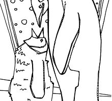 Emperor penguin, coloring book page by Gwenn Seemel