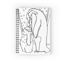 Emperor penguin, coloring book page Spiral Notebook