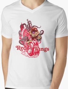 Detroit Red Wings Mens V-Neck T-Shirt