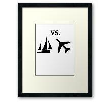 boat vs plane  Framed Print