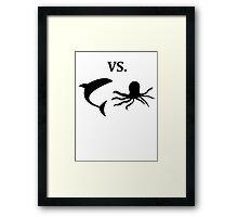 shark vs octopus   Framed Print