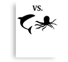 shark vs octopus   Canvas Print