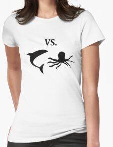 shark vs octopus   Womens Fitted T-Shirt