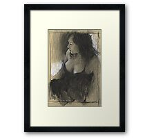 Sunday's charcoal Framed Print