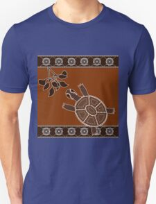 An illustration based on aboriginal style of dot painting depicting turtle T-Shirt