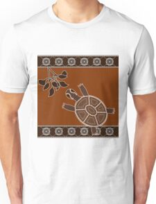 An illustration based on aboriginal style of dot painting depicting turtle Unisex T-Shirt